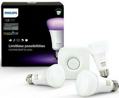 Philips Hue LAEST White and Colour Ambiance E27 Starter KIT SmartThings Apple