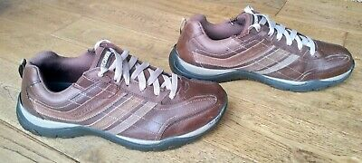 Skechers Men's Brown Leather Casual Shoes Trainers UK Size 12 Relaxed Fit 50660