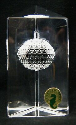 """Waterford Crystal STAR OF HOPE Times Square 2000 4"""" Prism Paperweight B2403"""