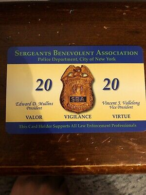 2020 NYPD SBA Card Unsigned