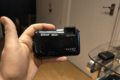 Nikon COOLPIX AW120 16.0MP Digital Camera Black Used, Working