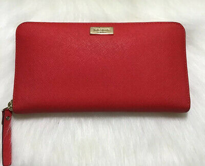 Gorgeous Kate Spade New York Long Wallet In Red Color Pre-Owned
