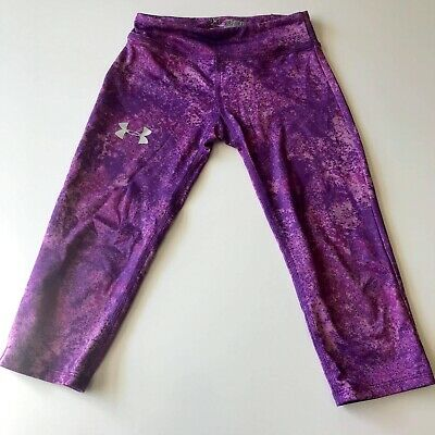 Under Armour Girls Purple Athletic Leggings Size Youth XSmall