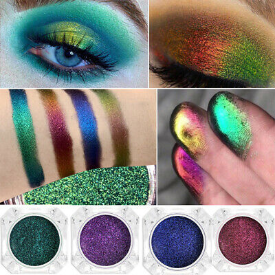 Makeup Glitter Palette Diamond Metallic Light Changing Eyeshadow Pigment Dust
