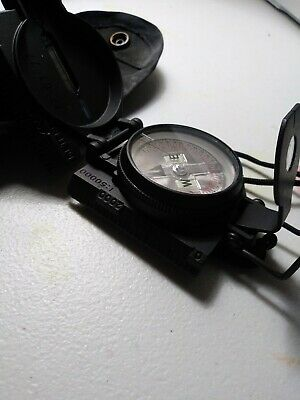 CAMMENGA 3H Tritium Lensatic US Military Compass With Pouch New