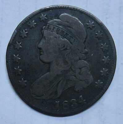 1834 Capped Bust Half Dollar-Lg Date/Sm Letters-Nice