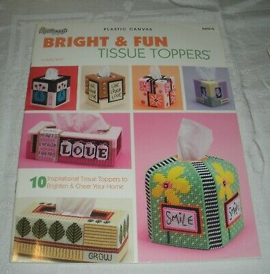 Bright & Fun Tissue Toppers Plastic Canvas Patterns Box Covers Needlecraft Shop