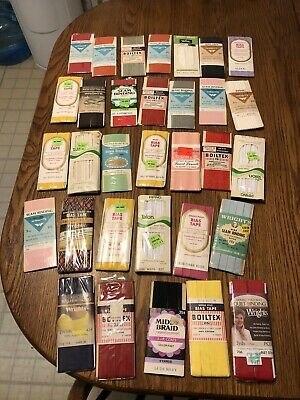 Vintage Seam Binding Bias Tape Lot