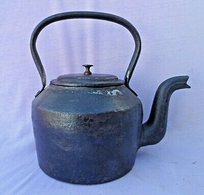 ANTIQUE CAST IRON 4 PINT ( No1 ) KETTLE BY SWAIN (3.5Klo) GOOD USABLE CONDITION