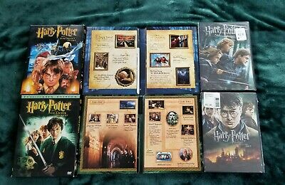 Harry Potter DVD 4 Movie Lot Sorcerer Chamber Deathly Hallows 1 & 2