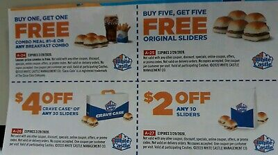 White Castles Coupons expire Feb. 29, 2020   (F1B1)