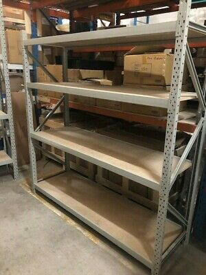 Used second hand heavy duty long span racking shelving in great condition