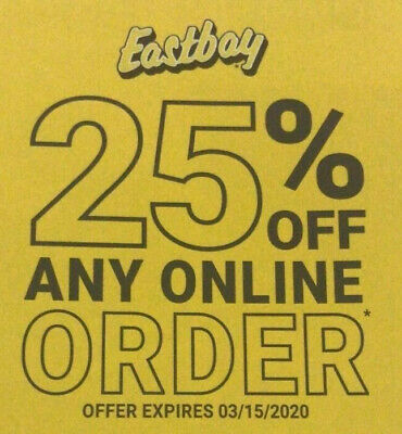 Hurry Up Save On Line Eastbay DISCOUNT Coupon Code 25% OFF any ORDER Exp 3/15/20