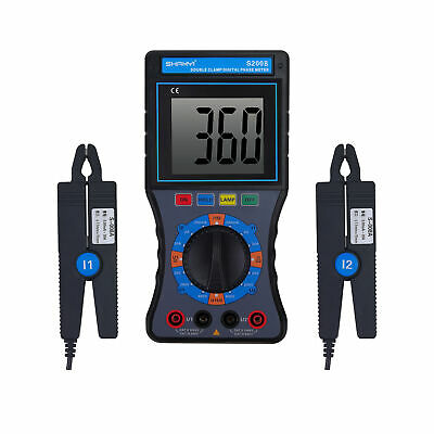 SHANYI S200B Double-Clamp Digital Phase Voltammeter New