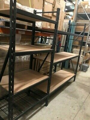 Used second hand heavy duty long span racking shelving in good condition