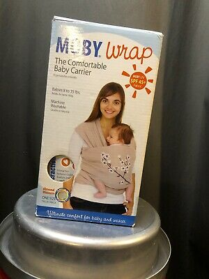 Moby Wrap New Open Box Tan With Flowers Baby Wrap Carrier