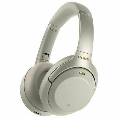 Sony WH-1000XM3 Wireless Noise Cancelling Headphones Silver WH1000XM3S Bluetooth