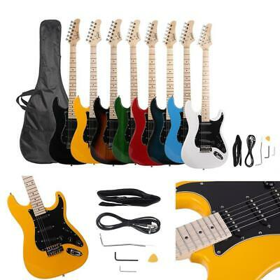 Glarry Electric Guitar +Tool+Strap+Cord+bag Beginner Pack Accessories Colorful