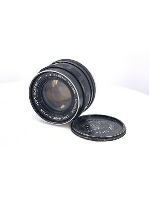 【AS IS】MINOLTA Auto Rokkor-PF 55mm f/2 Lens for MD MC Mount Japan 4541864 (b-4)