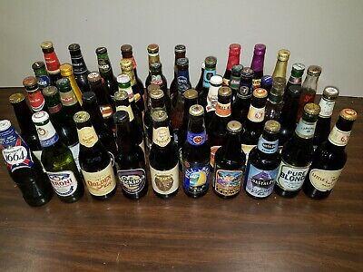 Beer Bottle Collection - Unopened Bottles 10-25 Years Old Worldwide  Lot4