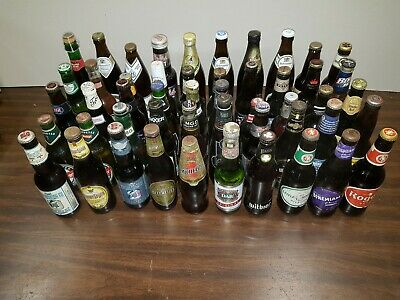 Beer Bottle Collection - Unopened Bottles 10-25 Years Old Worldwide  Lot5