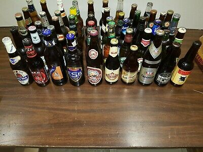 Beer Bottle Collection - Unopened Bottles 10-25 Years Old Worldwide  Lot6