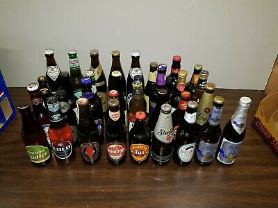 Beer Bottle Collection - Unopened Bottles 10-25 Years Old Worldwide  Lot8