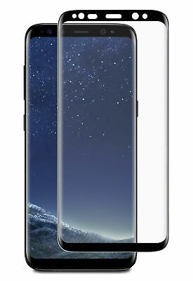Blu Element 3D Curved Glass Case Friendly Black for Samsung Galaxy S8 Screen