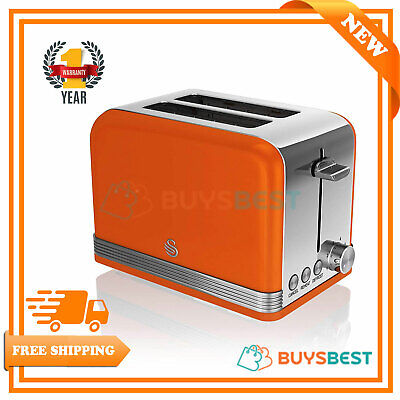 Swan 2-Slice Retro Toaster 815 W, Orange ST19010ON