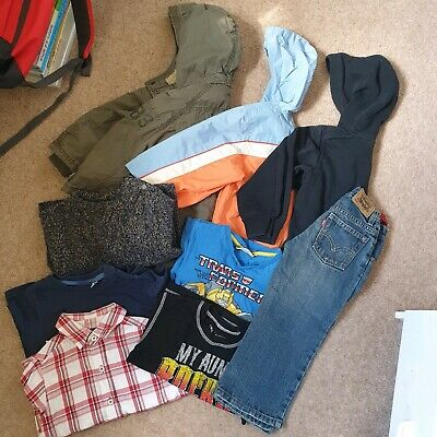 Boys Summer Spring Bottoms Clothes Bundle Age 4-5y Trausers Hood Pack Jacket Boy