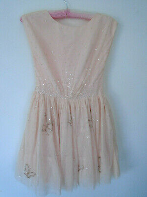 Next Signature Girls Dress Age 11 Years Sugar Pink Sequins Net Petticoat BNWT
