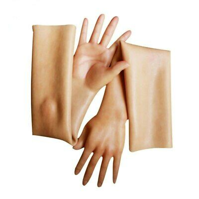 Rubber Female Glove Full Length Silicone Hand with Snail Smooth Skin Breathable