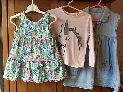 Baby Girl Bundle 12-18 Months Dress Top Outfit Unicorn Next George TU