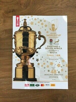 2019 Rugby Union World Cup Final Programme England v S.Africa. Pristine Cond.