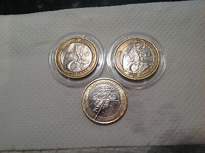 Three Olympic Coins Rare Northern Ireland Two Pound Coin + Wales + London 1908