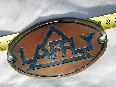 LAFFLY - PLAQUE AUTOMOBILE  - originale pas reproduction !!