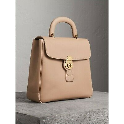 Genuine BURBERRY Large DK88 Leather Top Handle Beige Bag RRP£2,095