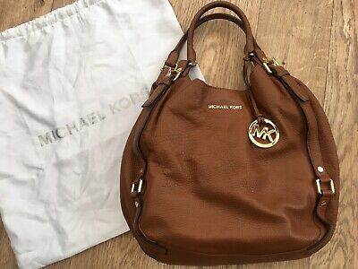Michael Kors Bedford tan leather bag tote shopping bag
