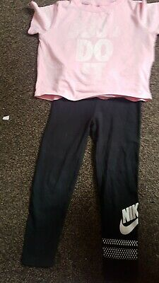 Girls Nike Leggings And T Shirt Age 5-6 Yrs