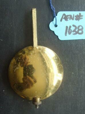 pen#1638 1930'S mantle clock  pendulum  92mm max length,