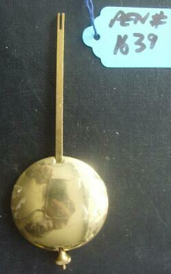 pen#1639 1930'S mantle clock  pendulum  114mm max length,