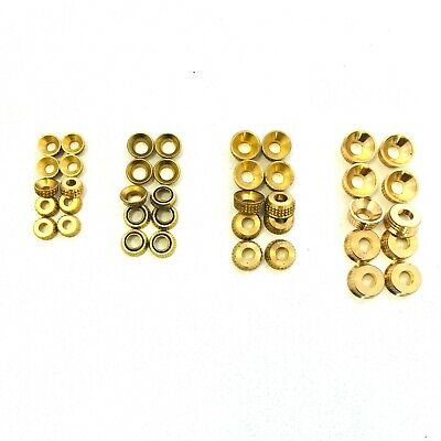 15x 4g SOLID BRASS SCREW CUP WASHER SURFACE MOUNTED FOR COUNTERSUNK CSK SCREWS