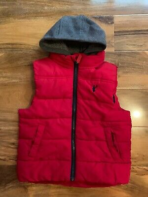 Boys Blue Zoo Red Gillet/body Warmer Age 5-6