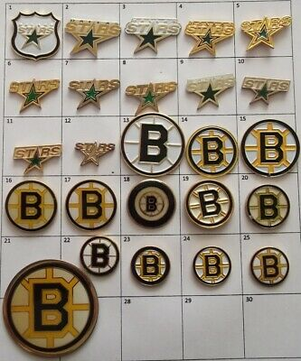 Different Teams :Dallas Stars Boston Bruins Nhl Hockey Logo Pin Your Choice G874