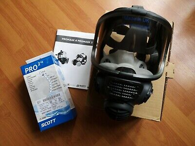 SCOTT Safety Promask2 Full Face Respirator Dust Face Mask Gas mask 2 Free filter