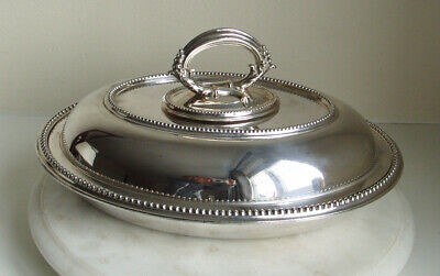 Antique W.b Silver Plated Oval Serving Entree Dish