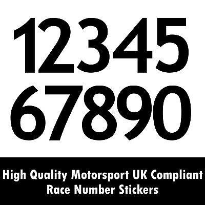 Motorsport UK Race Number Stickers | MSA Scrutineering Race Rally Car