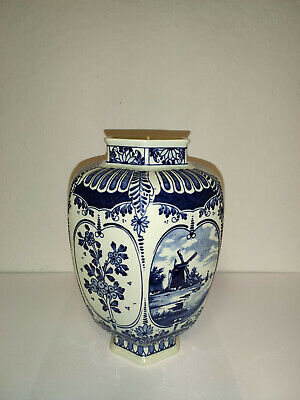 Vase, Urnenvase, Made by Royal Sphinx Maastricht by Boch - Delfts