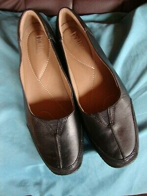 Hotter Comfort Concept Black Leather Slip On Shoes Size 7 - Selling For Charity