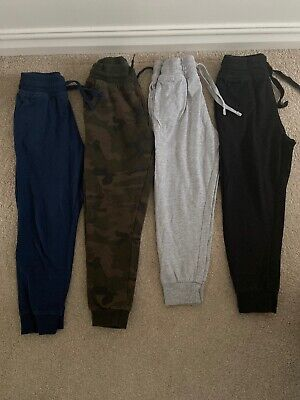 Boys Soft Jogging Bottoms, X4 Pairs, Elasticated Waist, 6-7yrs